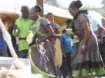 Blushing Makoti Tswana bride outfit 3