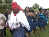 Blushing Makoti Tswana bride outfit 4