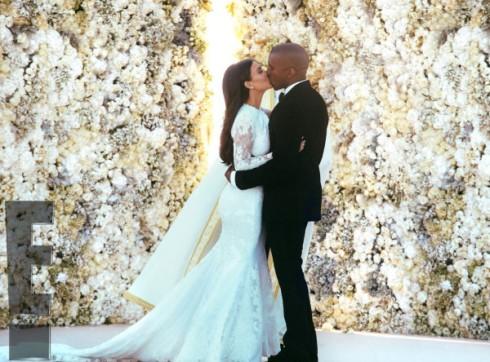 Kim Kardashian and Kanye West Wedding Pics